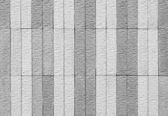 Closeup brick pattern at brick stone wall texture background in black and white tone