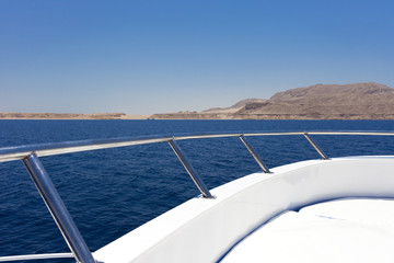 Sailing boat in red sea