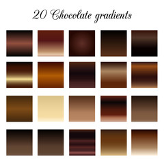 Brown Tone Color Shade Background, chocolate gradient swatches