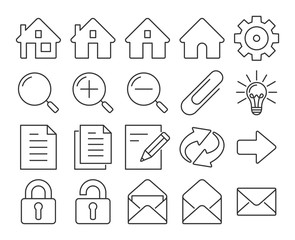 Modern line style icons: User interface. Set #1
