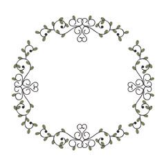 beautiful floral frame decoration vector illustration design