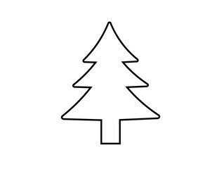 fir-tree. vector icon.