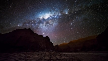 star tails in Atacama desert Chile