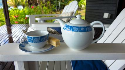 Genuss mit Kaffee im Garten