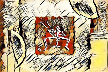 Ethnic art illustration