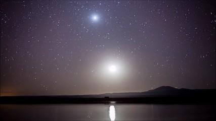 star tails in Atacama desert Chile