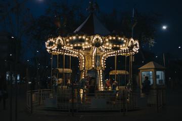 Carrusel de noche en Sevilla