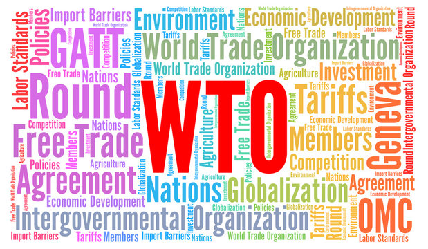 WTO word cloud concept