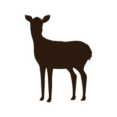 reindeer animal isolated icon vector illustration design