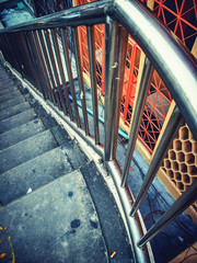 stair image art composition vintage