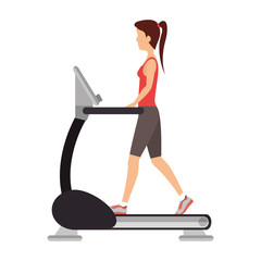 machine gym equipment icon vector illustration design