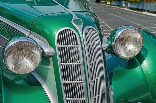 Car vintage green
