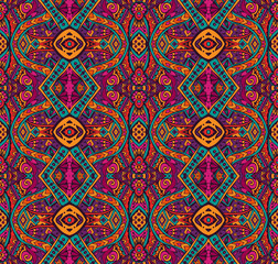 colorful ethnic seamless patten