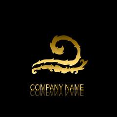 golden wave symbol