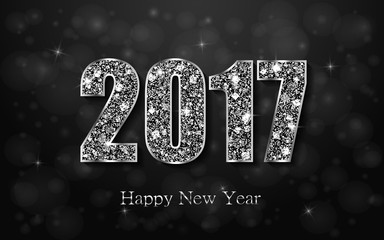 Happy New Year 2017. Element for greeting cards, posters. calendar cover. Vector illustration