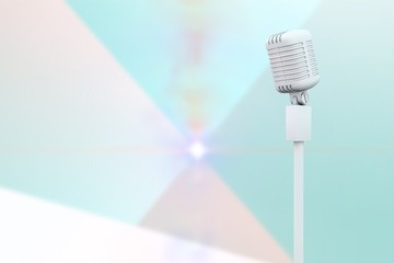 Composite image of white microphone