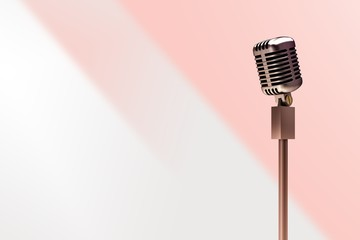 Composite image of retro microphone