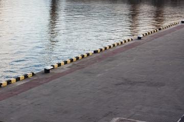 empty sea port docks