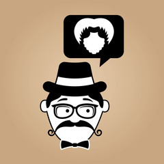 hipster style bearded retro design vector illustration eps 10