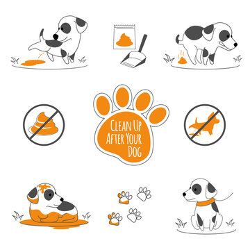 Clean up after your dog illustration