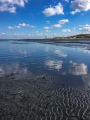 Watt is los Cuxhaven an der Nordsee Kugelbake