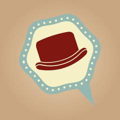 symbol hipster hat design icon vector illustration eps 10
