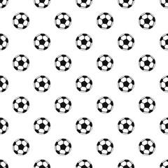 Soccer ball pattern. Simple illustration of soccer ball vector pattern for web