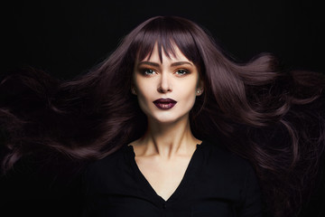 beautiful young woman with long healthy hair.sexy girl.trendy hair coloring. Beauty salon