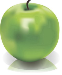 Picture of isolated green apple
