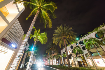 Rodeo drive by night