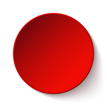 Red circle button for valentines day and for internet and for your business presentation. vector illustration