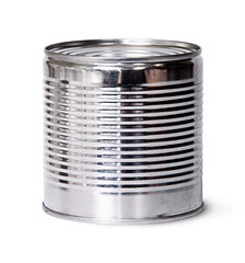 In front silver tin can