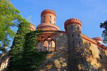 Obraz Kamieniec Zabkowicki Schloss - Kamieniec Zabkowicki Schloss palace, Silesia - fototapety do salonu