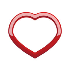 Red Heart icon isolated on white background for Valentine's day holiday and for gift. Vector illustration