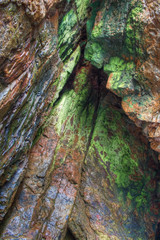 Green marine cave