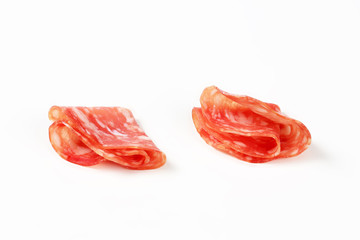 slices of dry salami