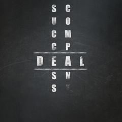 Business concept: Deal in Crossword Puzzle