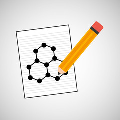 science laboratory molecule structure drawing graphic vector illustration eps 10