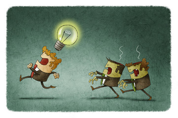 zombie businessmen steal ideas
