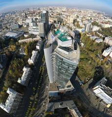aerial view of skyscraper in Kiev, Ukraine