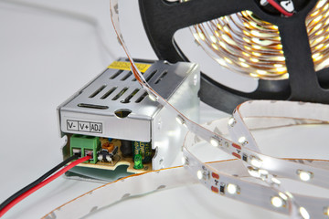 Included light reel LED strips and  Power Supply Adapter Driver.