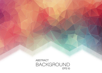 Horizontal Abstract 2D geometric colorful background