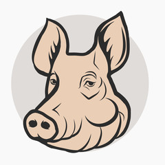 Pig Head, Pork farm Logo