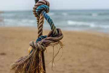 Colorful Sailing Rope at the Beach
