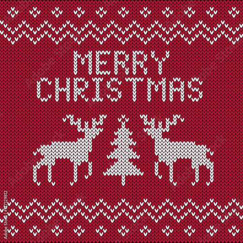 Vector Christmas Knitting Patterns Stock Image And Royalty Free
