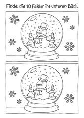 Fehlerbild Schneekugel Schneemann