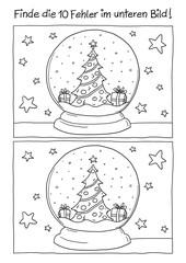 Fehlerbild Schneekugel Weihnachten
