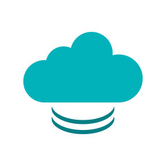 Cloud icon. Weather sky nature climate and season theme. Isolated design. Vector illustration