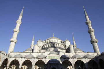 Minarets and Dômes. The Blue Mosque. Turquie.