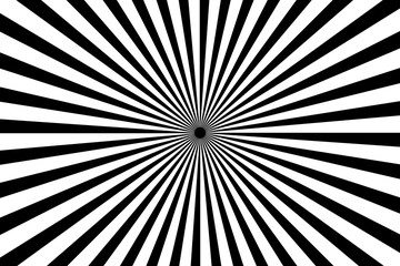 Black and white radiating lines